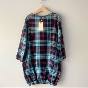 Boy + Girl Bubble Plaid Dress